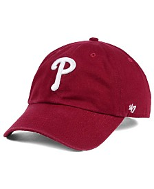 '47 Brand Philadelphia Phillies Cardinal and White Clean Up Cap
