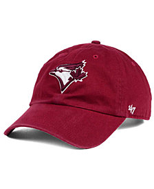 '47 Brand Toronto Blue Jays Cardinal and White Clean Up Cap