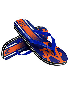 Forever Collectibles New York Mets Gradient Big Logo Flip Flops
