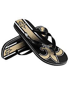 Forever Collectibles New Orleans Saints Gradient Big Logo Flip Flops