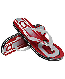 Forever Collectibles Ohio State Buckeyes Gradient Big Logo Flip Flops