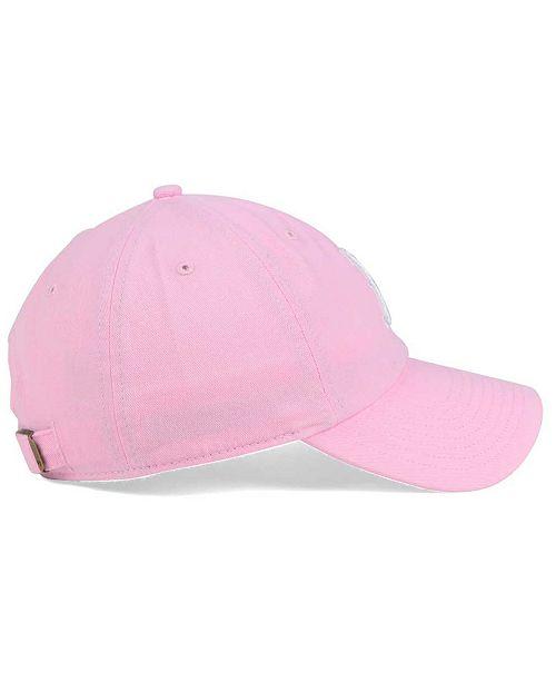 2397cbb3ee9 47 Brand Women s Boston Red Sox Pink White Clean Up Cap - Sports Fan ...