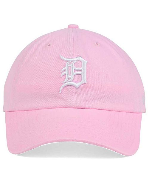 reputable site c51fb 48359 ... Cap   47 Brand Women s Detroit Tigers Pink White Clean Up ...