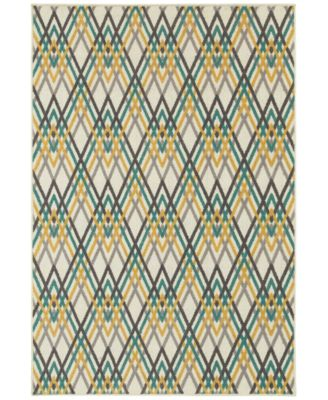"CLOSEOUT!  Soleil Cross Stitch 3'3"" x 5' Indoor/Outdoor Area Rug"