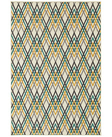 "CLOSEOUT! JHB Design  Soleil Cross Stitch 3'3"" x 5' Indoor/Outdoor Area Rug"