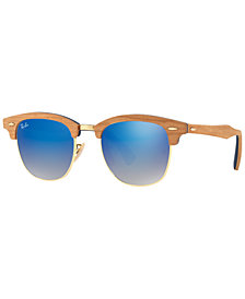 Ray-Ban CLUBMASTER WOOD Sunglasses, RB3016M