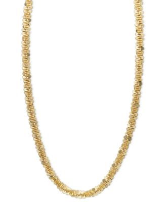 """14k Gold Necklace, 16"""" Faceted Chain (1-1/2mm)"""