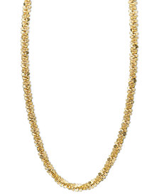 "14k Gold Necklace, 16"" Faceted Chain (1-1/2mm)"