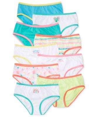 9 Pack Maidenform Girls Cotton Hipster Underwear