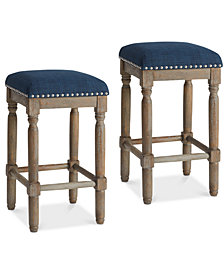 Cirque Set of 2 Counter Stools, Quick Ship