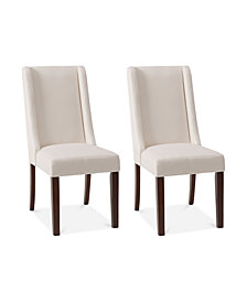Bryson Set of 2 Wing Dining Chairs, Quick Ship