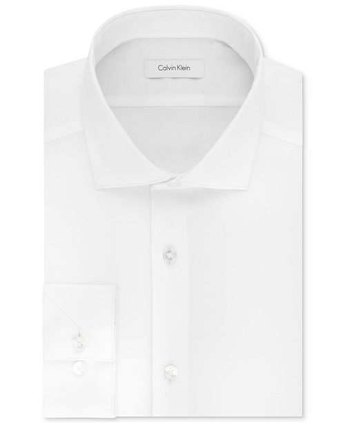Calvin Klein Calvin Klein Men's STEEL Slim-Fit Non-Iron Stretch Performance Dress Shirt