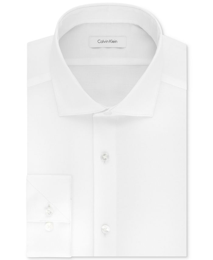 Calvin Klein - Men's Big & Tall Slim-Fit Non-Iron Performance Stretch Unsolid Solid Dress Shirt
