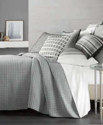 Hotel Collection Linen Plaid Quilted Full/Queen Coverlet, Created For Macyu0027s