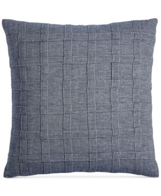 """CLOSEOUT!  Ticking Stripe 18"""" Square Decorative Pillow, Created for Macy's"""