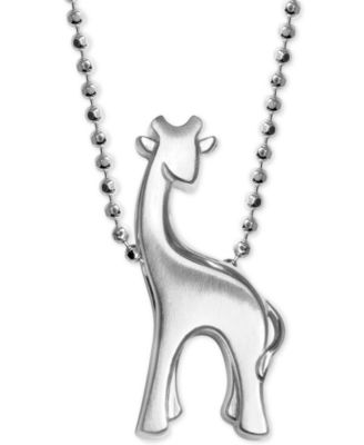 Alex Woo Giraffe Pendant Necklace In Sterling Silver Necklaces Jewelry Watches Macy S