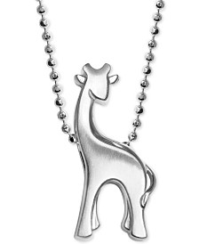Alex Woo Giraffe Pendant Necklace in Sterling Silver