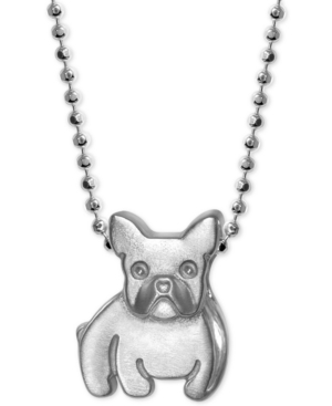 French Bulldog Pendant Necklace in Sterling Silver