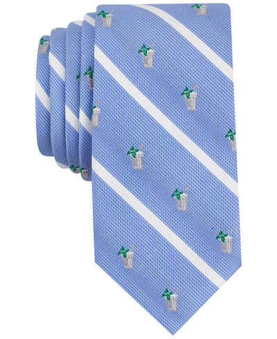 Bar III Men's Mint Julep Conversational Skinny Tie, Created for Macy's