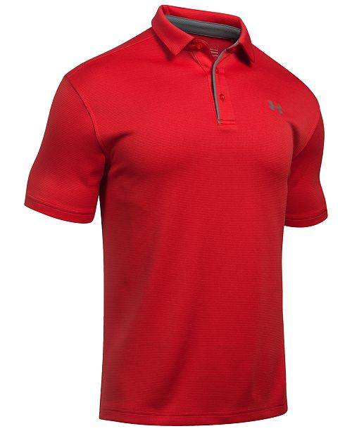9cceed4a828959 Under Armour Men s Tech Textured-Stripe Polo   Reviews - Polos - Men ...