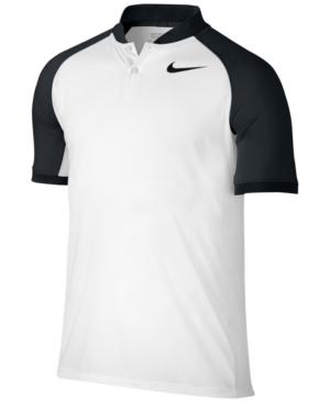 Nike Raglan Men's Slim Fit Golf Polo Shirt Size Small (White)