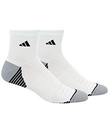 adidas Men's 2 Pack Speed Mesh ClimaLite Quarter Socks