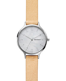 Skagen Women's Anita Blush Leather Strap Watch 36mm SKW2634