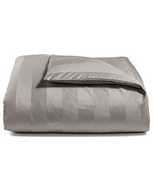 Charter Club Damask Stripe King Duvet Cover, 100% Supima Cotton 550 Thread Count, Created for Macy's