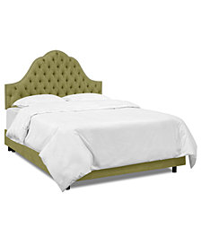 Jacqueline Full Nail Button Tufted Arch Bed, Quick Ship