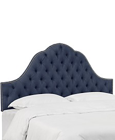 Jacqueline Twin Nail Button Tufted Arch Headboard, Quick Ship