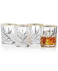 Dublin Gold  Double Old Fashioned Glasses, Set of 4