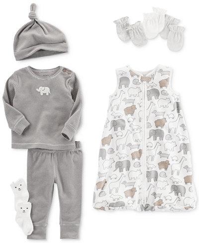 Carter's Elephant Mittens, Sleep Bag & Clothing Set, Baby Boys & Girls