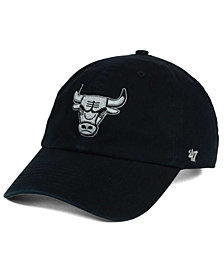 '47 Brand Chicago Bulls Black Gray Clean Up Cap