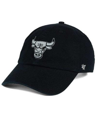 '47 Brand Chicago Bulls Black Gray Clean Up Cap