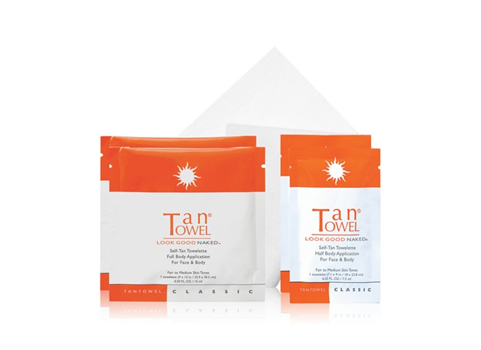 Receive a free 4-piece bonus gift with your $30 TanTowel purchase