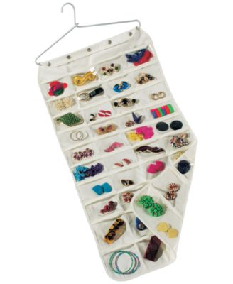 Household Essentials 80Pocket Hanging Jewelry Organizer Cleaning