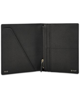 Moon Road Art Leather Passport Holder Cover Case Travel One Pocket