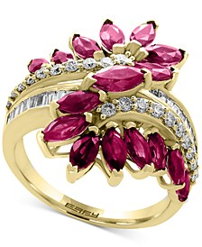 EFFY® Certified Ruby (2 ct. t.w.) & Diamond (3/8 ct. t.w.) Ring in 14k Yellow Gold