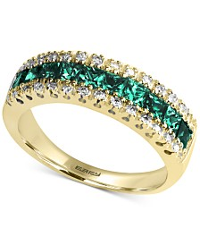 Brasilica by EFFY® Emerald (1-1/8 ct. t.w.) and Diamond (1/8 ct. t.w.) Ring in 14k Gold