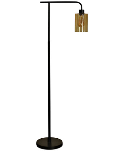 StyleCraft Seeded Amber Floor Lamp - Lighting & Lamps - For The Home ...