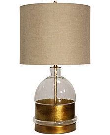 StyleCraft Mid-Field Glass Table Lamp