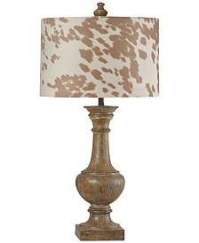 StyleCraft Baluster Cotton Wood Table Lamp
