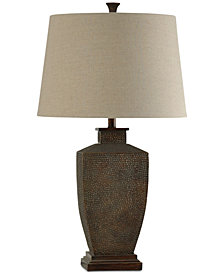 StyleCraft Hammered Metal Table Lamp