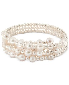 Pearl Lace by EFFY® Cultured Freshwater Pearl (5-1/2, 7-1/2, 10, 12mm) Coil Choker Necklace