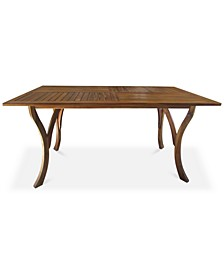Darra Rectangle Dining Table, Quick Ship