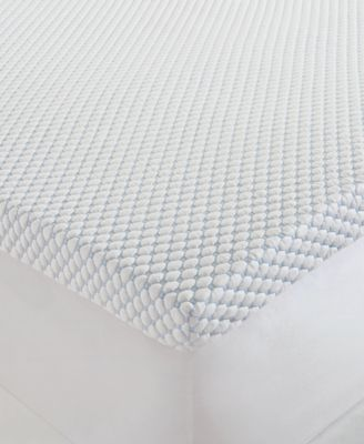 """CLOSEOUT! Dream Science Extreme Cool 3"""" Memory Foam Twin Mattress Topper by Martha Stewart Collection, Created for Macy's"""