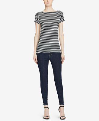 Lauren Ralph Lauren Premier Skinny Crop Jeans - Jeans - Women - Macy's