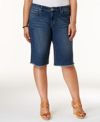 women's plus size shorts - macy's