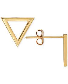 Triangle Stud Earrings in 14k Gold