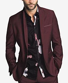 I N C Mens Slim Fit Burgundy Blazer Created For Macys